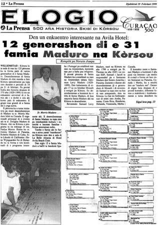 Maduro Family Reunion | Curaçao, Netherlands Antilles | February 1999